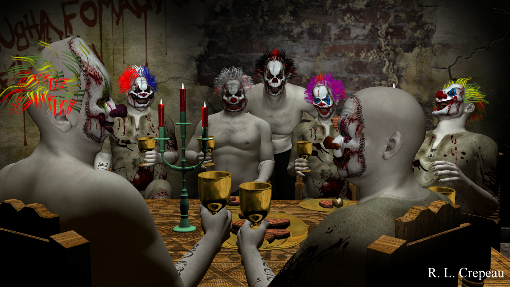 evil clown banquet